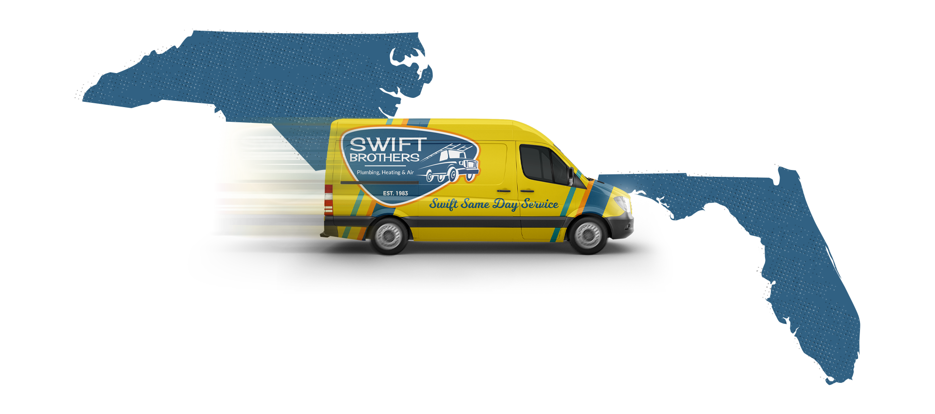 Swift Brothers Van - Service Areas Map
